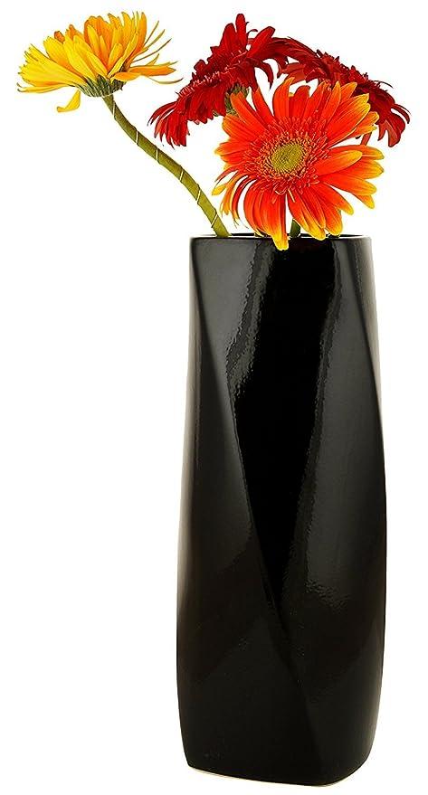 Woodenclave Black Home Décor Ceramic Flower Vase  sc 1 st  Amazon.in & Buy Woodenclave Black Home Décor Ceramic Flower Vase Online at Low ...