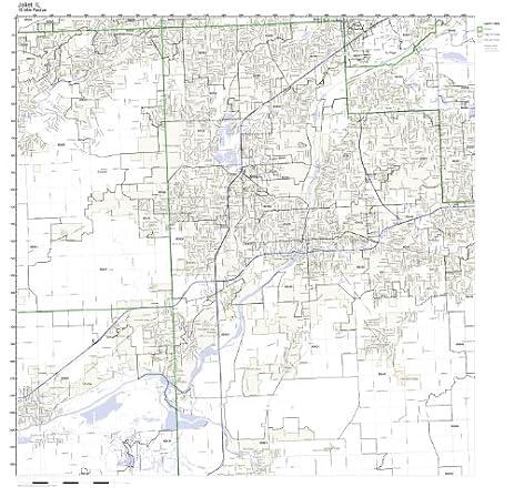 Amazoncom Joliet IL ZIP Code Map Not Laminated Home Kitchen - Joliet map