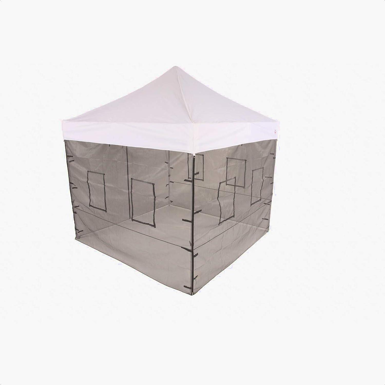 Pop Up Food Service Vendor Tent Sidewalls, Color: Black; Red, Overall: 86'' H x 120'' W x 120'' D