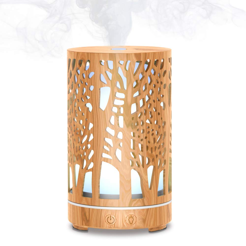 MEIDI Essential Oil Diffuser, Aromatherapy Diffuser, Portable Quiet Ultrasonic Aroma Cool Mist Humidifier Diffuser With Adjustable Mist Mode, Fascinating LED Night Lights, Auto Shut-Off