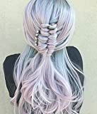 UniWigs Lilac Lustre Lace Front Synthetic Wig, Heat friendly Fiber,Romantic Looking Pastel Wave For Party Fashion Women For Sale