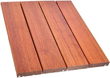 Suelo de madera para suelo, patio exterior, terraza de jardín conservante de madera maciza, suelo de mosaico, madera maciza, suelo cuadrado, balcón interior, baño, madera, antideslizante, tamaño de suelo DIY, 30303 cm: