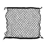 SuperWarehouse Car Black Nylon Luggage Cargo Net Holder Elastic Storage 70cm x 70cm, swh832817ca285017