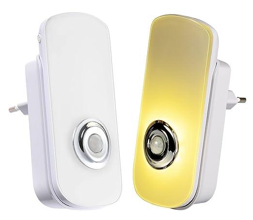 Emotionlite 5 en 1 multifuncional LED Luz de Noche de con Sensor de Movimiento y Crepúsculo