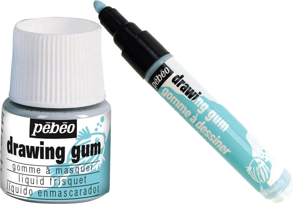 Pebeo Latex Free Drawing Gum 45ml & 4mm Drawing Gum Pen Bundle