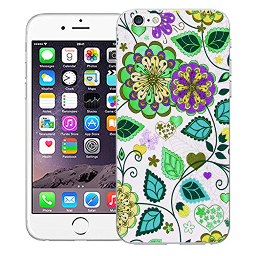 "Mobile Case Mate iPhone 6 4.7"" Silicone Coque couverture case cover Pare-chocs + STYLET - Efflorescence pattern (SILICON)"