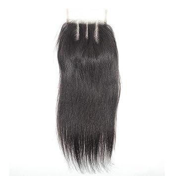 08952050af7 Forawme Straight Human Hair Pre Plucked Lace Closure Soft Cheap Braziian  Virgin Hair Pieces 130% 1B...
