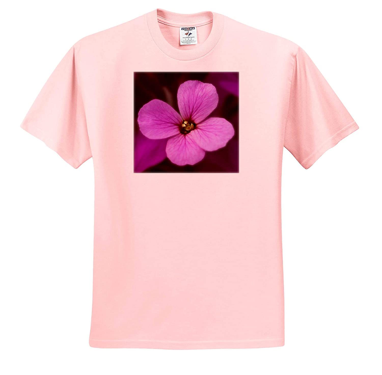 Macro Photograph of a Pretty Purple WallFlower in Full Bloom - T-Shirts Flowers 3dRose Stamp City