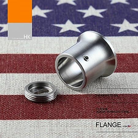 1 Pair VIBORG Solid SUS 304 Stainless Steel Extra Thick Flanges Shower Curtain Rod Closet Flange Bracket Holder Satin Nickel Inner Diameter 25