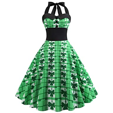b9ad04308e84 Mr.Macy St. Patrick's Day Summer Daily Sundress,Women's Shamrock Evening  Print Party