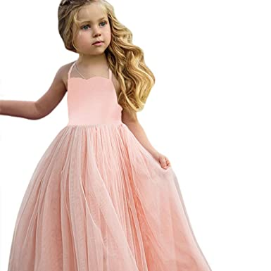 UK Toddler Infant Kids Baby Girls Princess Lace Dress Party Wedding Tutu Dresses