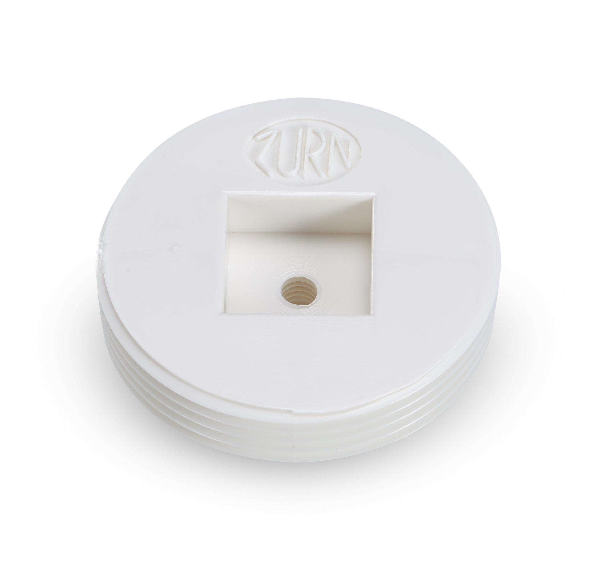 Zurn CO2490-P15 PVC Countersunk Cleanout Plug, 9/16'' Height, 1-1/2'' Diameter, 3.5''