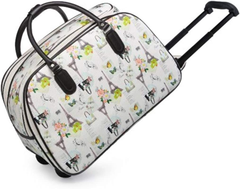 LeahWard Womens Wheeled Travel Holdall Bags Holiday Baggage Beige