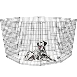 BV Pet 48''H Foldable Exercise Pen / Dog Playpen, 8 Panels with Single Door