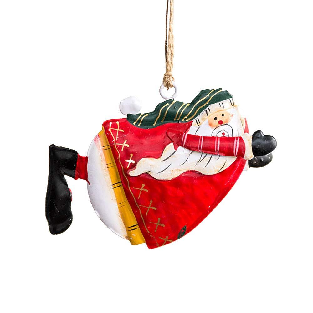 Mome Car Pendant 1PC Creative Christmas Decor Gifts Iron Pendant Tree Ornament Party Home Hanging Decor Pendants - 8 (H)