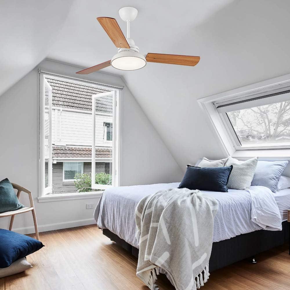 Lingkai Ventilador LED lampara de techo con control remoto Aspas ...