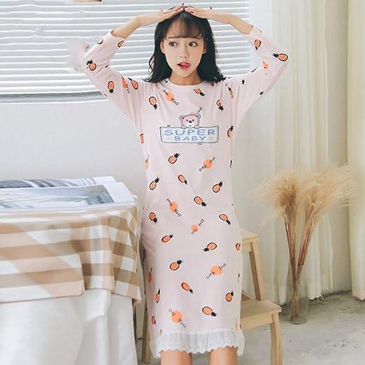 HIUGHJ Pijamas Nueva Ropa de Dormir para Mujer Sombrero de camisón ...
