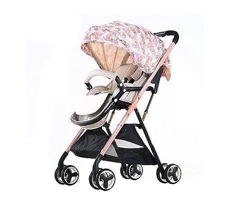 ZELIAN Paisaje Alto Carrito para bebés Ultraligero Plegable Paraguas Coche Carrito para niños Vehículo de Cuatro