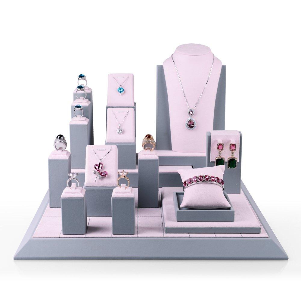 Oirlv Precious Jewelry Display Set Jewellery Showcase Organizer