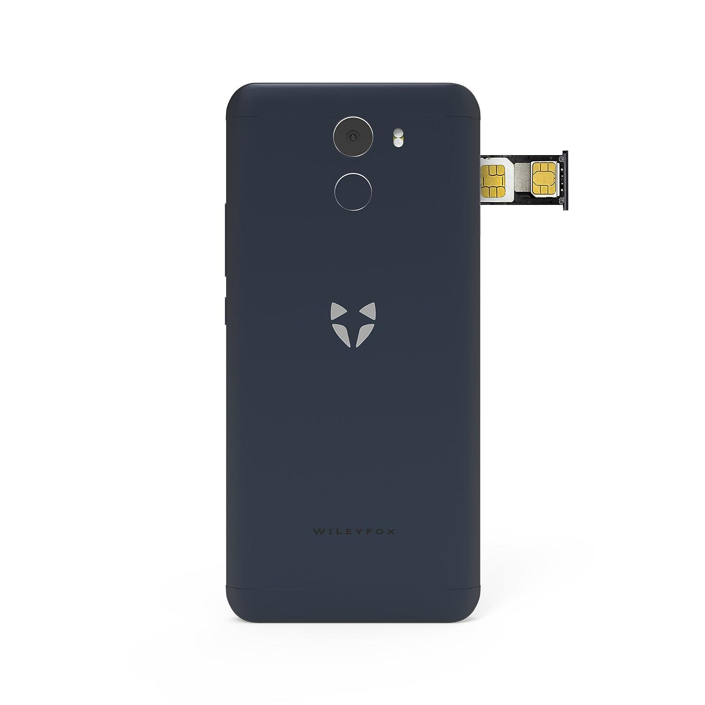 Tel/éfono m/óvil Libre Color Negro Pantalla de 5 Pulgadas HD, 16 GB de Memoria Interna con 2 GB de RAM, Doble SIM 4G, Sistema operativo Android Nougat 7.1.1 Wileyfox Swift 2
