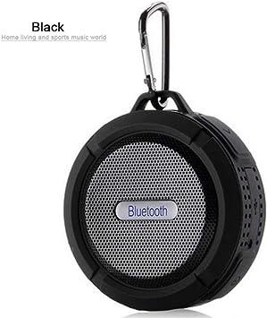 Caja de Sonido Exterior qiyan Mini Altavoz Bluetooth inalámbrico Subwoofer portátil Sistema de Sonido Envolvente Bluetooth Ducha Impermeable Altavoz en Altavoces portátiles Negro: Amazon.es: Electrónica
