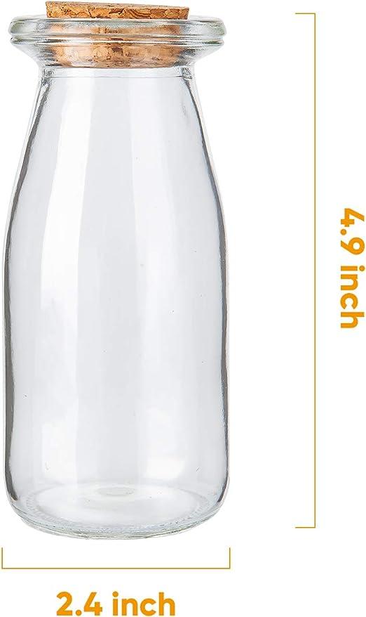 Tarro peque/ño de cristal con tapa de corcho y cierre herm/ético sal semillas especias pimienta juego de 3 peque/ño recipiente transparente para almacenamiento de cocina para granos BUNRUN
