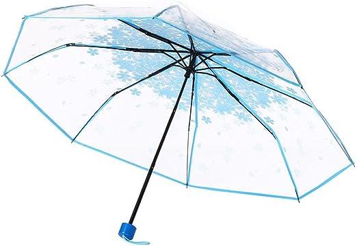TURQUOISE Trim Clear Fiberglass Bubble Dome Umbrella