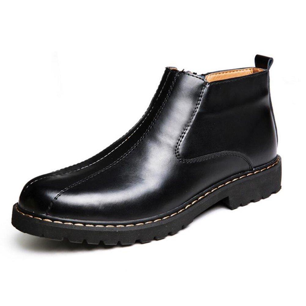 Zapatos de hombre de primavera nuevos de cuero Zapatos de hombre de moda Zapatos de hombre Martin Zapatos de hombre bajos Botas negras GAOLIXIA ( Color : Black , tamaño : 44 ) 44|Black