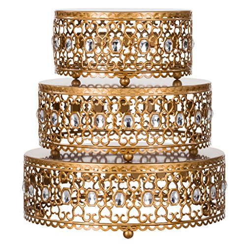 tand Risers Set with Crystal Rhinestones (Gold) ()