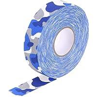 VOSAREA 2.5cmx25m Hockey Stick Tape Sticky Tape Anti-Slip Wear-Resistant Sports Waterproof Tape Hockey Stick Wrapper (Camouflage Pattern)