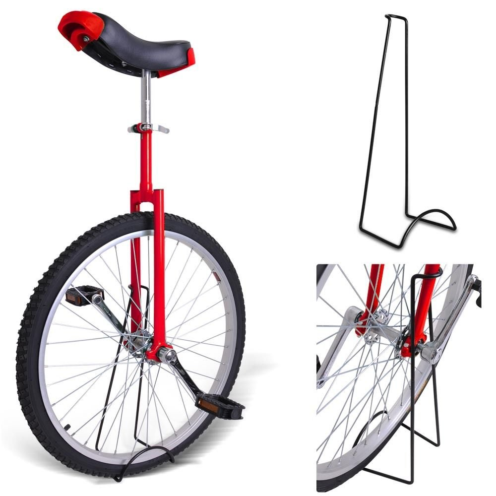 24'' Inches RED Unicycle 1.75 Skidproof Tire w/ Stand Cycling Exercise Mountain Wheel by Jamden