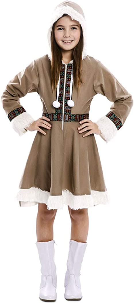 EUROCARNAVALES Disfraz de Esquimal para niña: Amazon.es: Juguetes ...