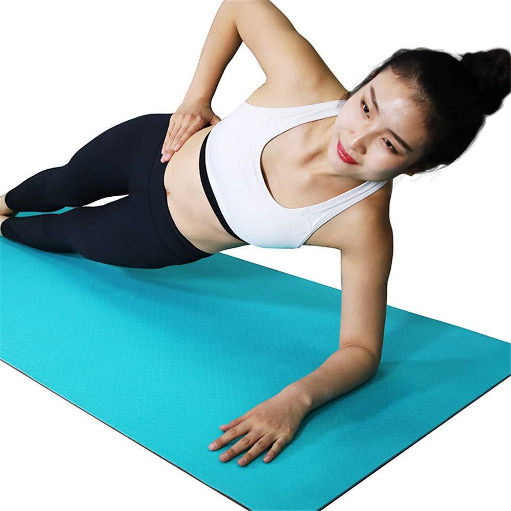 YOOMAT Professionelle Yogamatte TPE6mm Umweltschutz Yogamatte Männer und Frauen doppelseitige Anti-Rutsch-Sport-Fitness-Matte