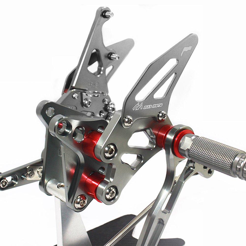 MADRACING HAYABUSA GSX1300R Motorbike Adjustable Rearsets CNC Aluminum Black