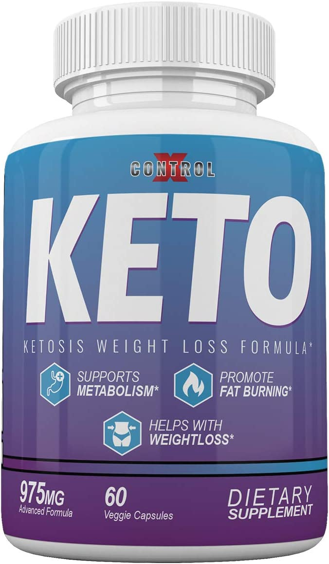 Control X Keto – Ketosis Weight Loss Formula – 975MG – 60 Capsules – 1 Month Supply