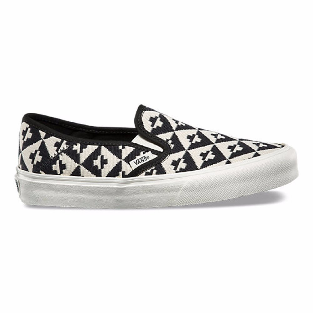 Amazon.com | Vans Slip-On SF Geo Check Womens Shoes (5) | Loafers & Slip-Ons
