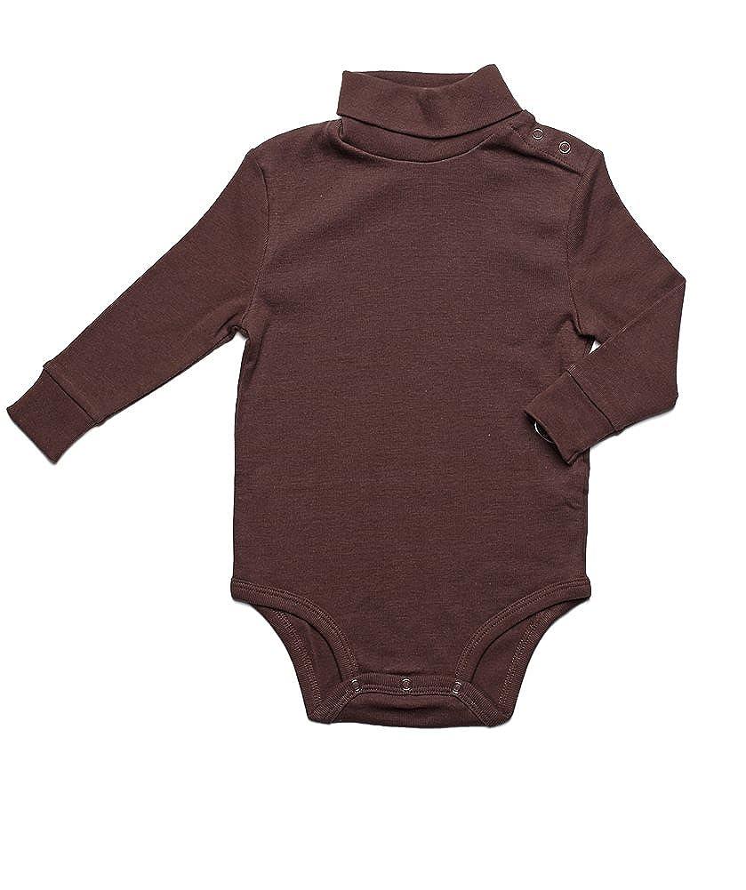 Leveret Long Sleeve Baby Boys Girls Bodysuit Turtleneck 100% Cotton (Size 6 Months-2 Toddler)
