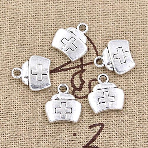 30pcs Charms nurse cap cross 13x12mm Antique Making Vintage Tibetan Silver Zinc Alloy Pendant