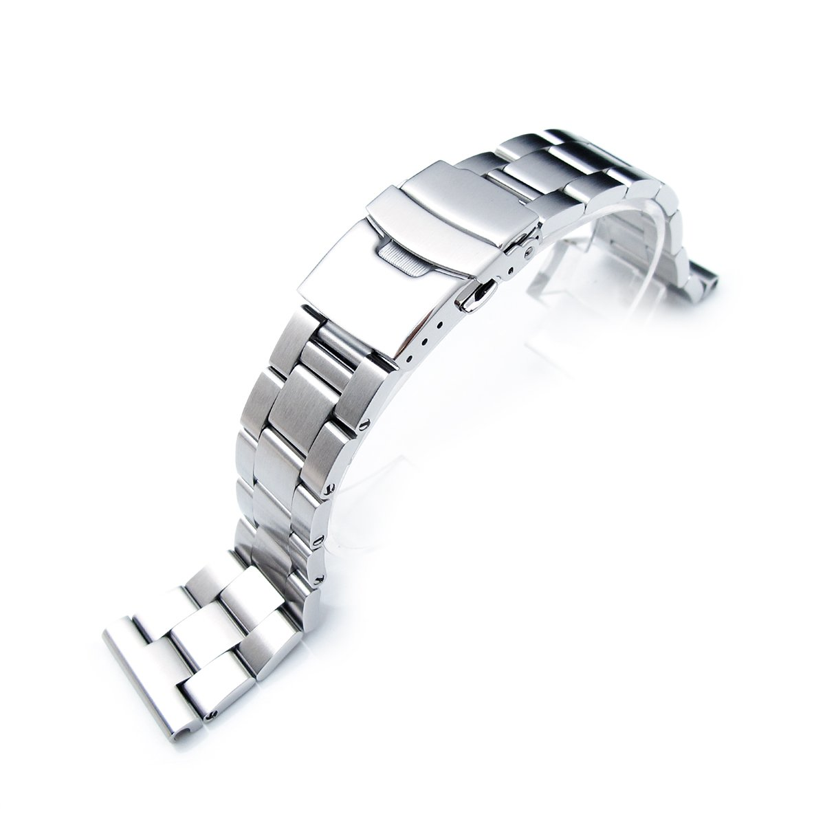 21mm SOLID 316L Stainless Steel Super Oyster Straight End Watch Band