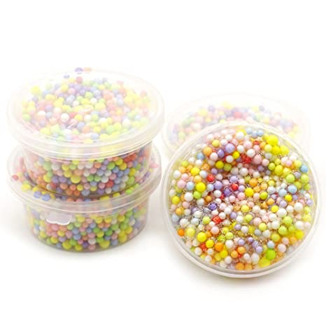 CHENWENEED Juguetes niños,Rainbow Colorful Styrofoam Decorativo Slime Beads DIY Craft para Crimey Slime