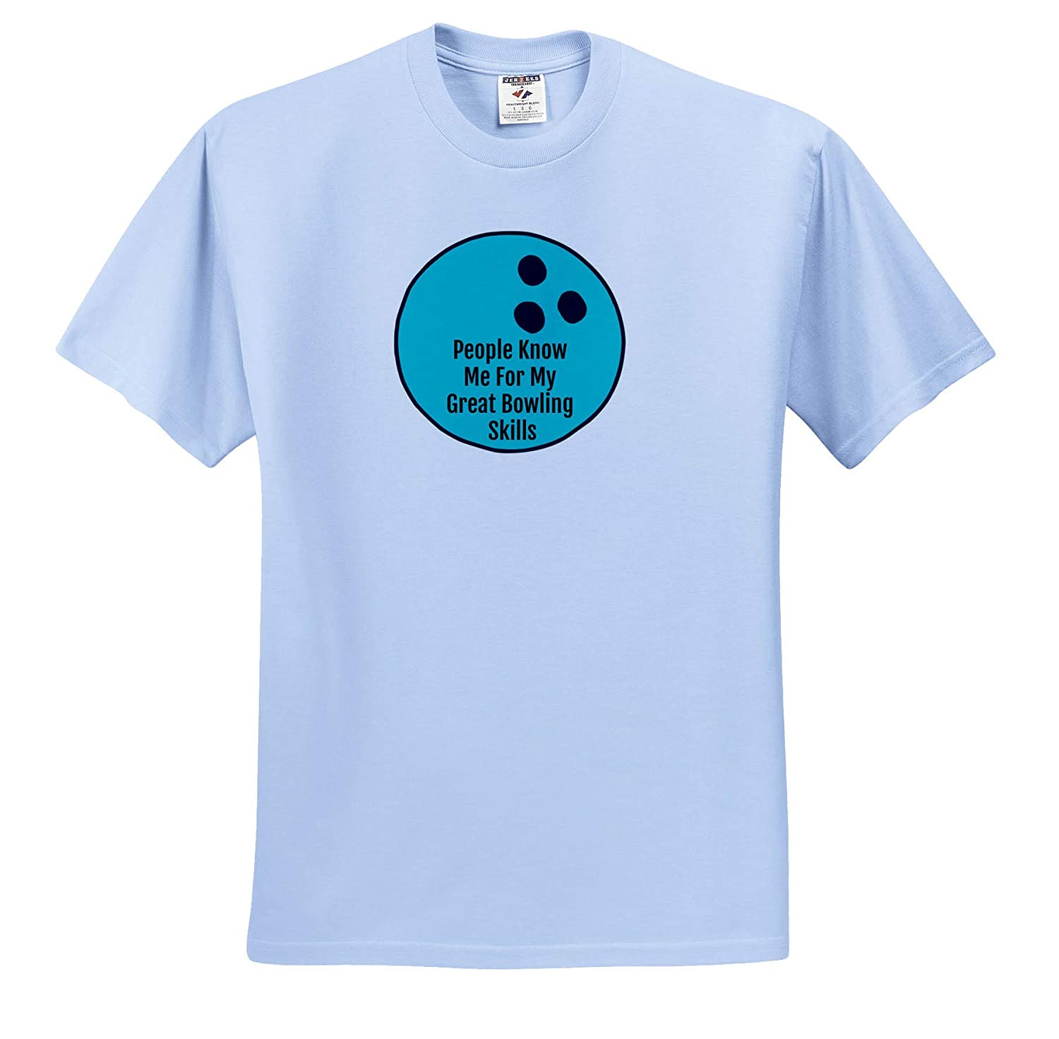 ts/_321056 3dRose Carrie Quote Image Adult T-Shirt XL Image of Bowling Quote People Know me for My Great Bowling Skills
