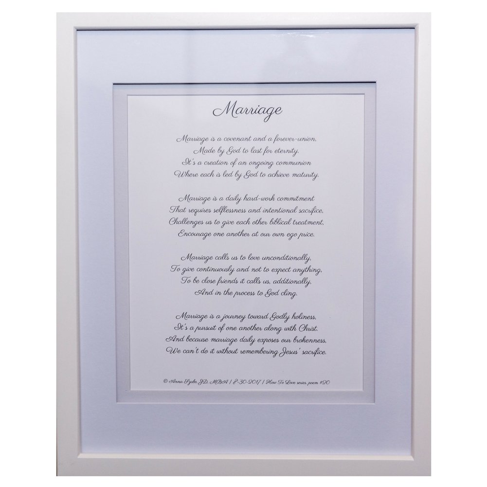 Love Poems about Marriage by Anna Szabo #PoemsFromGod  framed poetry for Prayer Hallway