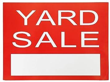 Amazon.com: Letrero de venta de Yard – Red Garage Sale Yard ...