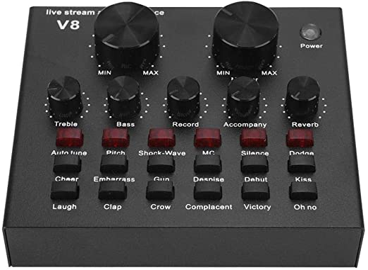 V8 Voice Change Handy Computer Live Soundkarte Metal Shell Schwarz ...