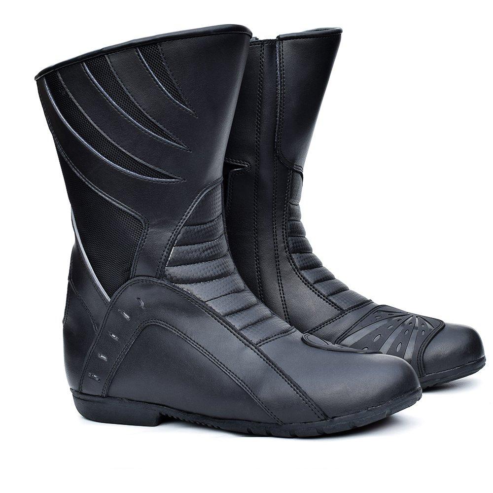 PROANTI Motorradstiefel Motorradschuhe Motorrad Chopper Schuhe Roller Stiefel