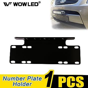 WOWLED Universal License Number Plate Frame Mounting Bracket Holder ...