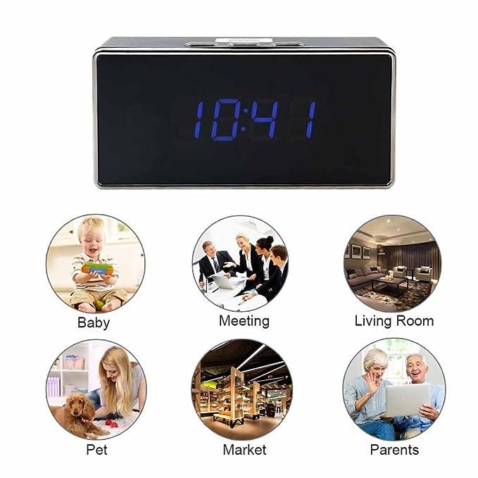 Reloj despertador WiFi IP 3 G Cam Full HD 1080p espía cámara video audio fotos cw242: Amazon.es: Bricolaje y herramientas