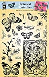 hot off the press stamps and dies - HOTP Clear Stamps - Botanical Butterflies - Silicone Stamps HOTP1227