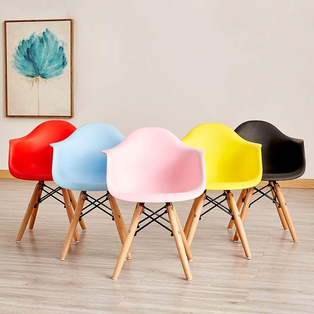 HXF – matstol, enkel skrivbordsstol, kreativ ryggstöd, fritidsstol, hem vuxen matstol hållbar (färg: Rosa) Rosa