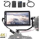 "Feelworld F6 On-Camera LCD Monitor Professional Grade 4K HDMI 5.7"" IPS for Canon Nikon Sony Panasonic DSLR Mirrorless Cameras, F550 Battery Kit Included"